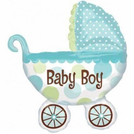 Balon za rojstvo, Moder otroški voziček