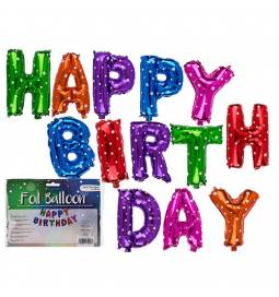 Pisani folija baloni Happy Birthday