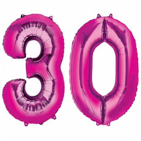 XXL balona številka 30, magenta