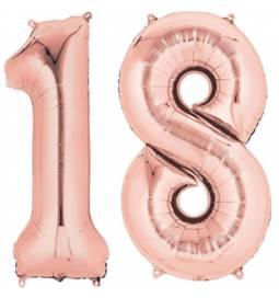 XXL balona številka 18, magenta