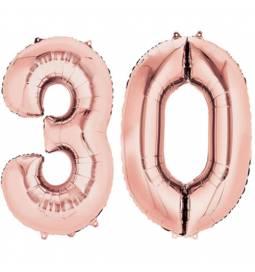XXL balona številka 18, rose