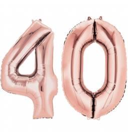 XXL balona številka 30, rose