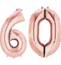 XXL balona številka 40, rose