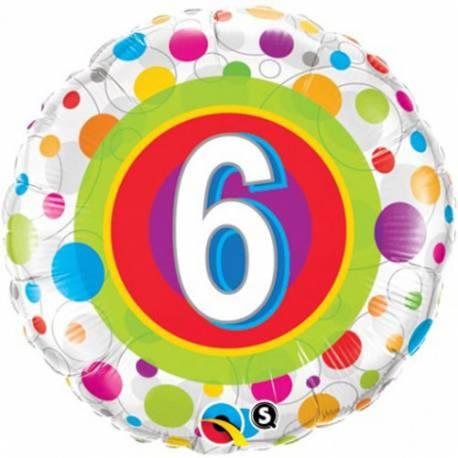 Folija balon 8. rojstni dan, pisan