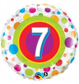 Folija balon 6. rojstni dan, Dots