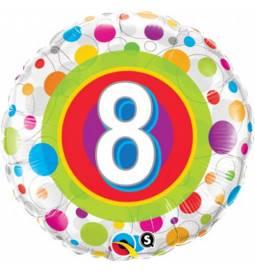 Folija balon 7. rojstni dan, Dots