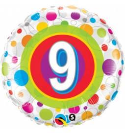 Folija balon 8. rojstni dan, Dots