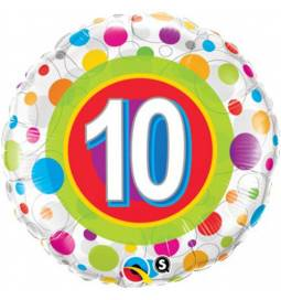 Folija balon 9. rojstni dan, Dots