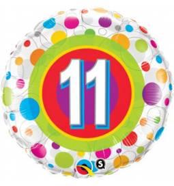 Folija balon 10. rojstni dan, Dots
