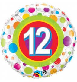 Folija balon 11. rojstni dan, Dots