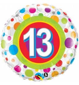 Folija balon 12. rojstni dan, Dots