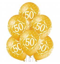 Metalik baloni s potiskom številke 40, srebrni 6/1