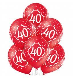 Prozorni baloni za 40. rojstni dan 6/1