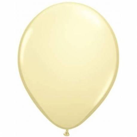 Lateks baloni 28 cm, Krem, 10/1