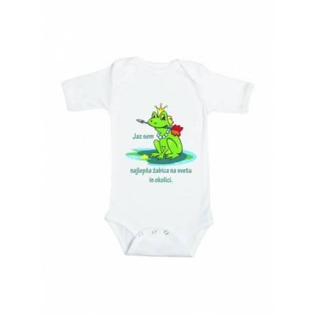 Šaljiv otroški bodi Najlepša žabica