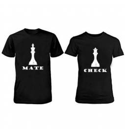 Komplet majic za pare, Chech Mate, črni