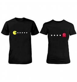 Komplet majic za pare, Pacman, črni