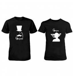 Komplet majic za pare, Gospod Gospa, črni