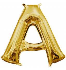 Folija balon črka A, zlata