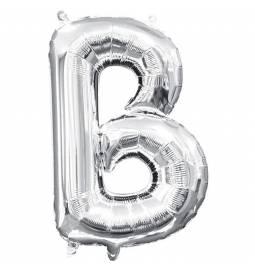 Folija balon črka B, srebrna