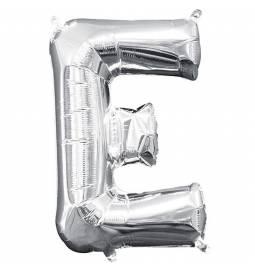 Folija balon črka E, srebrna