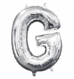 Folija balon črka G, srebrna