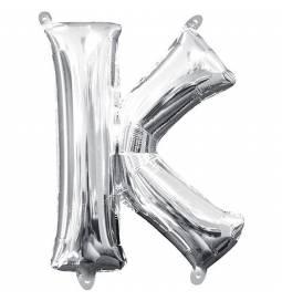 Folija balon črka K, srebrna