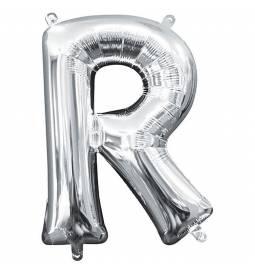Folija balon črka R, srebrna