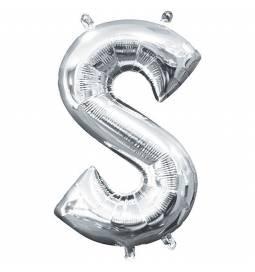 Folija balon črka S, srebrna