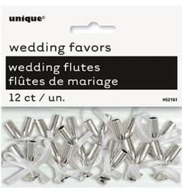 Poročna dekoracija, Mini kozarčki, srebrni