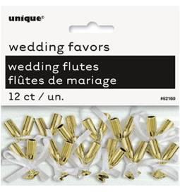 Poročna dekoracija, Mini kozarčki, zlati