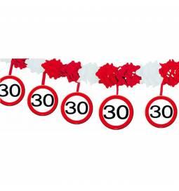 Girlanda Stop znak 30 let