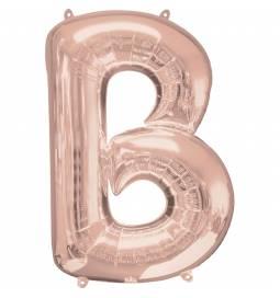 XXL balon črka A, rose gold 86 cm