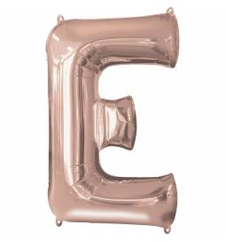 XXL balon črka D, rose gold 86 cm