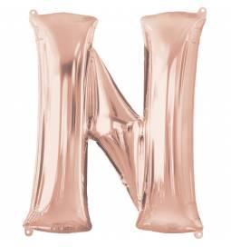 XXL balon črka M, rose gold 86 cm