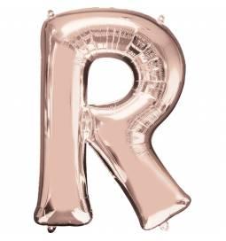 XXL balon črka P, rose gold 86 cm