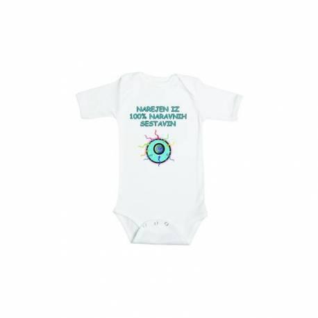 Šaljiv otroški bodi Narejen iz naravnih sestavin