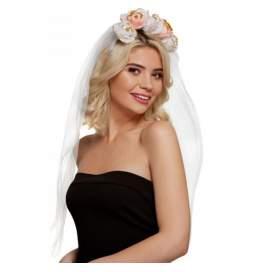Obroček s tančico Bride, zlat