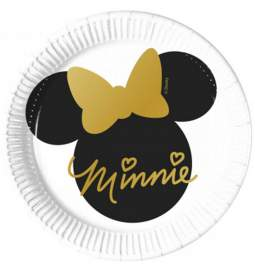 Krožniki 20 cm Minnie Mouse Gold 8/1