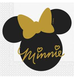 Serviete 33x33 cm Minnie Mouse Gold