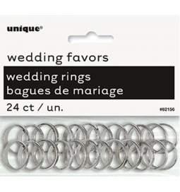 Poročna dekoracija, Mini prstančki, srebrni