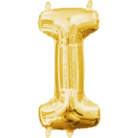Folija balon črka I, zlata