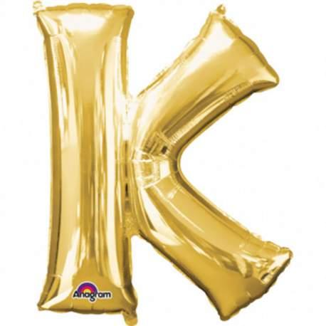 Folija balon črka K, zlata