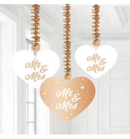 Viseča dekoracija Mr & Mrs Rose Gold
