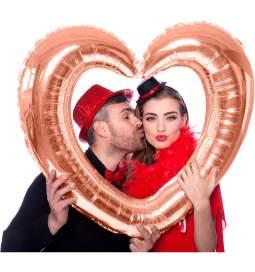 Folija balon Okvir za sliko Rdeče srce