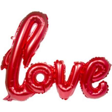 Mini folija balon Love, rdeč