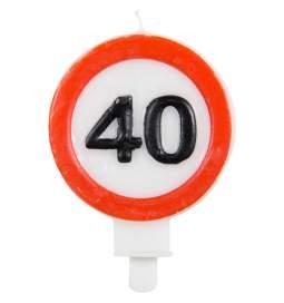 Svečka 40. rojstni dan, Stop znak