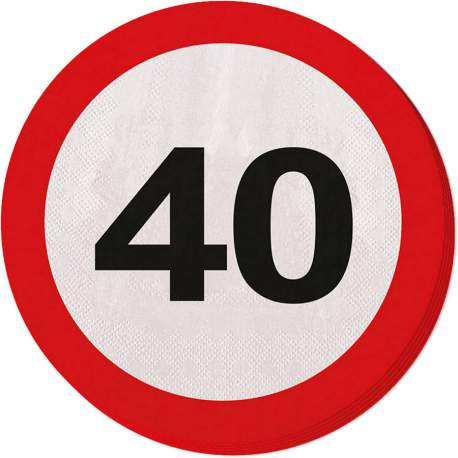Serviete za 40 rojstni dan, Stop znak