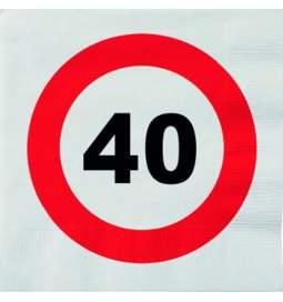 Serviete za 40 rojstni dan, Stop znak 1