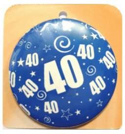Priponka za 40 rojstni dan, Modra